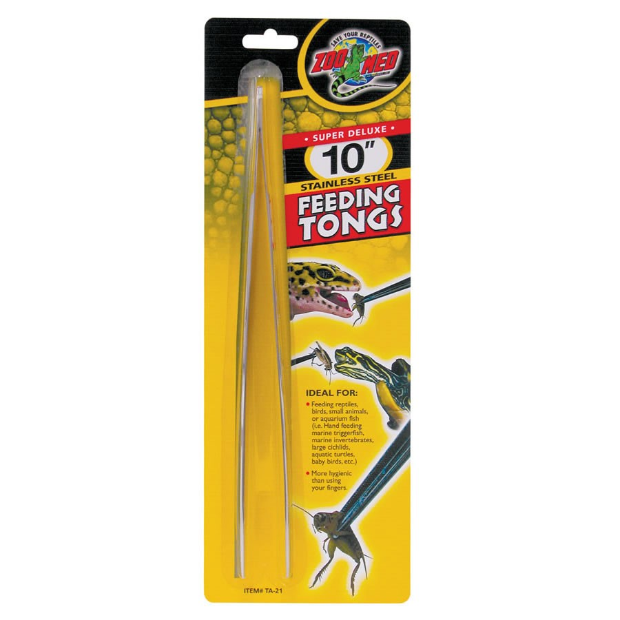 Zoo Med 10in Stainless Steel Feed.Tongs TA-21