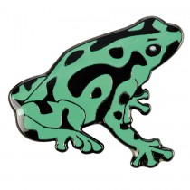 Blue Bug Pin Badge Poison Dart Frog Green