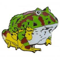 Blue Bug Pin Badge Horned Frog