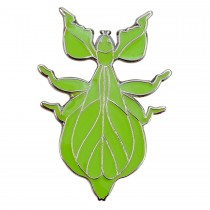 Blue Bug Pin Badge Walking Leaf