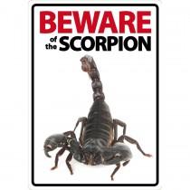 Beware Sign: Scorpion