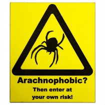 ProRep Sign Arachnophobic Yellow