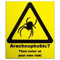 ProRep Sign Arachnophobic Yellow