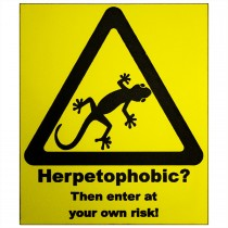 ProRep Sign Herpetophobic Yellow