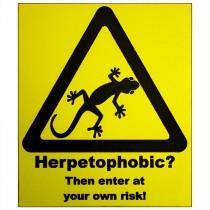 ProRep Sign Herpetophobic Yellow